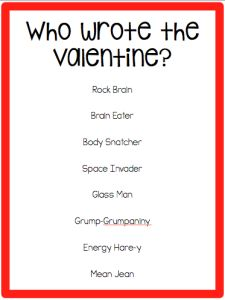 Speechy Musings: An easy, fun activity to learn about the Unthinkables around Valentine's Day!
