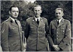 Horst Bohme, Hedrich and Karl Hermann Frank in Prague