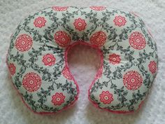 Hey, I found this really awesome Etsy listing at https://www.etsy.com/listing/205336407/pink-and-grey-flower-nursing-pillow-pink
