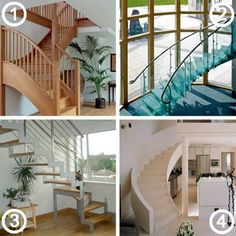 Oh I like the curved bit on number 1!!    Staircase Design Guide |   Homebuilding & Renovating