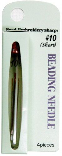 Tulip Beading Needles  Size 10 Short Package of 4 by BeadsToWeave, $4.95