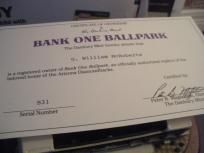 BANK ONE BALLPARK  BY DANBURY MINT