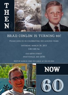 5x7 60th Birthday Invitation (Can be altered for any milestone birthday) by Announcements Plus, $15.00