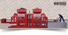 ماكينة البلوك و انترلوك و صناعة القوالبbess - نصف أتوماتيك prs 402 ماكينة الأنترلوك