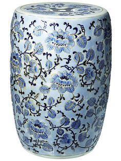 Porcelain garden stool, would look cute inside too!