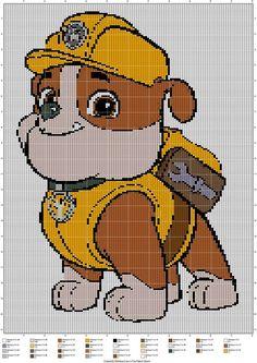 Per hokje 2 vasten gebruiken bij het haken van een deken. Cross Stitch Needles, Cross Stitch Charts, Cross Stitch Designs, Cross Stitch Patterns, Paw Patrol, Cross Stitching, Cross Stitch Embroidery, Crochet Blanket Edging, Crochet Edgings