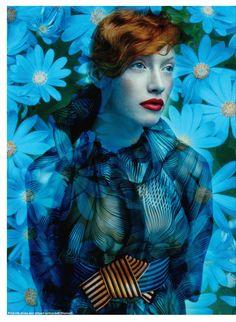 Floral Fantasy  Elle Canada September 2011  Shot by: Leda & St. Jacques  Model: Chantal Stafford Abbott