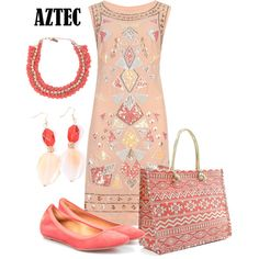 Office outfit: Aztec print by downtownblues on Polyvore featuring polyvore fashion style