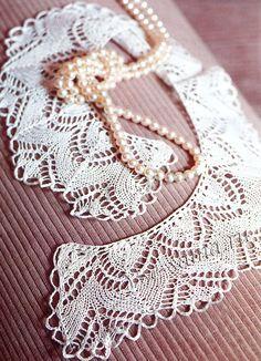 "Collar with spokes ""rainbow"" Knit Edge, Edge Stitch, Lace Collar, Crochet Bikini, Knitting Patterns, Crochet Necklace, Rainbow, Simple, Jewelry"