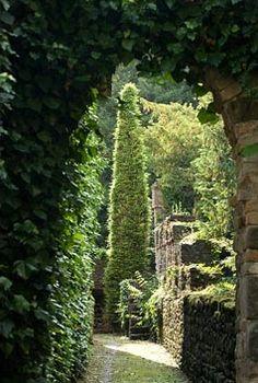 Grazzano Visconti garden, Piacenza, Italy