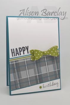 Gothdove Designs - Alison Barclay - Stampin' Up! Australia - The Artful Stampers Blog Hop #21 - Celebrate Today - Adventure Abound DSP #birthday #card #stampinup #stampinupaustralia #stampinupsouthpacific #BowBuilderPunch #Masculine #gothdovedesigns