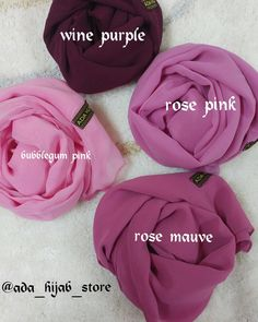 Wide range of plain hijabs...pinks..brown..greens..blue..peach..greys...rust colours mauve colour..n many other colours..follow us on insta @ada_hijab_store to see lot more variety.. Mumbai based