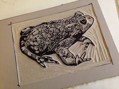 Brush and Baren: Hoppiness is a toad linocut Art Scratchboard, Merry Christmas Coloring Pages, Lino Art, Stamp Printing, Encaustic Painting, Wood Print, Print Print, Linocut Prints, Woodblock Print