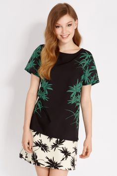 Placement Palm T-Shirt | Multi | Oasis Stores