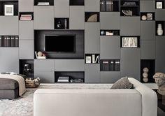 63 fantastiche immagini su parete attrezzata | Shelves, Bookshelves ...