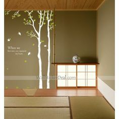 Story Two Trees Wall Sticker