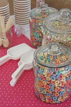 Cereal bar breakfast for kids' slumber party by melinda