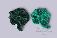 Ravelry: Lucky Shamrocks pattern by The Perfect Knot - Michelle Kovach