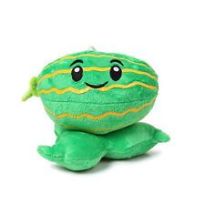 Plants vs Zombies 15CM Green Watermelon Plush Soft Toy Stuffed Doll with Strap
