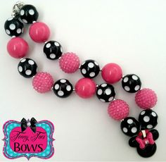 Pink Minnie Mouse Chunky Necklace! Sooooo cute wanna make this