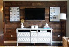 7 Stunning Pallet Wall Designs || Rustic Living Room