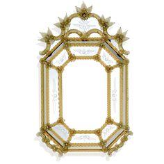 Miroir artisanal de Murano, fabrication sur mesure Disponible: www.i-lustres;com Pour toute information: 06 26 47 27 02 #murano #miroir