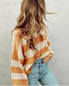 39 Perfect School Outfits Make You Fashionable wearing style, school outfits Teenager Outfits That Will Make You Look Great Cute Casual Outfits, Basic Outfits, Mode Outfits, Outfits With Jeans, Fashionable Outfits, Cute Sweater Outfits, Sweater Weather Outfits, Cowgirl Style Outfits, Oversized Sweater Outfit