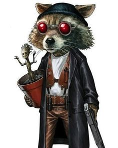 Rocket Raccoon as Leon The Professional •Mike S. Miller