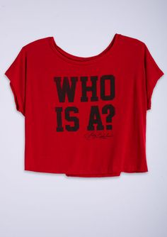 "dELiAs > Pretty Little Liars tee. ""Who Is A?"" own this one! love it"
