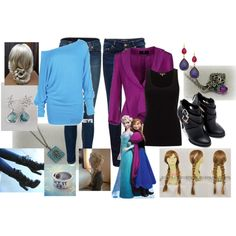 """frozen anna and elsa outfit"""