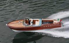 A Riva Aquarama built for the founder of Italian car maker Lamborghini has two   of the company's V12 engines, making it the fastest of its type in the world