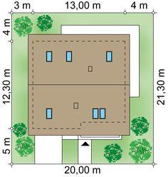 Projekt domu Alfa 3 98.35 m² - Domowe Klimaty House Entrance, Ground Floor, House Design, Flooring, Building, Projects, Cottage, Log Projects, Blue Prints