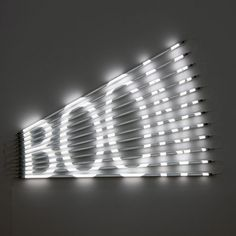 Wow.  Nice work with flourescent tube lights.  Definitely other signage apps. James Clar, Dubai based American artist.
