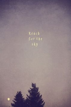REACH FOR THE SKY -  ART QUOTE