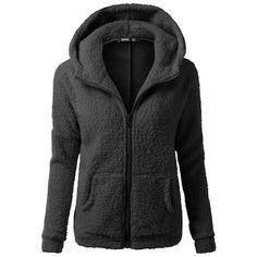 Women Hooded Sweater Coat Winter Warm Wool Zipper Coat Cotton Coat Outwear artificial fur coat kurtka zimowa damska : Women Hooded Sweater Coat Winter Warm Wool Zipper Coat Cotton Coat Out – rodewe Faux Fur Hoodie, Hooded Sweater, Sweater Coats, Sherpa Sweater, Fleece Hoodie, Hoodie Jacket, Wool Coats, Women's Coats, Hooded Coats