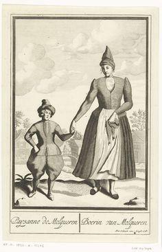 Boerin uit Molkwerum, Pieter van den Berge, anoniem, Pieter Schenk (I), in of voor 1689 - 1713