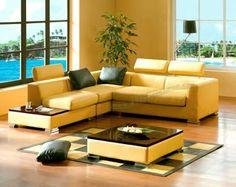 Yellow living room furniture ideas | modern home | Pinterest ...