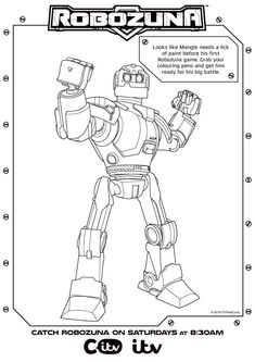 Robozuna Activity Sheets Printables