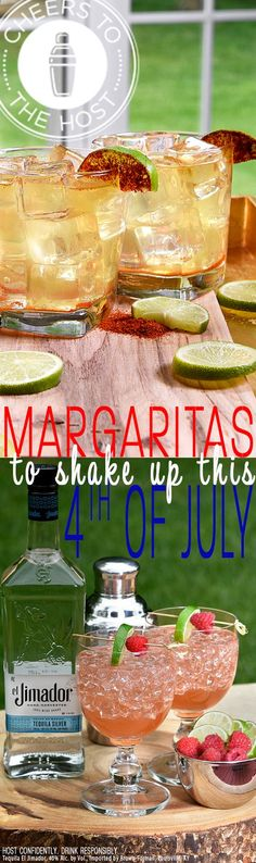 Ready for a margarita? Fourth of July lands on tequila Tuesday this year. Check out CheerstotheHost.com for other party ideas and this delicious Habanero Lime Margarita and this refreshing Raspberry Margarita recipe. Trust us, you'll want these at all your summer parties.
