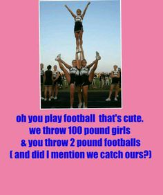 Cute Stunt Picture Idea (: and people say cheer isn't a sport Cheer Picture Poses, Cheer Poses, Picture Ideas, Cheer Routines, Cheer Workouts, Cheer Outfits, Cheerleading Outfits, Easy Cheerleading Stunts, Cheerleading Cheers