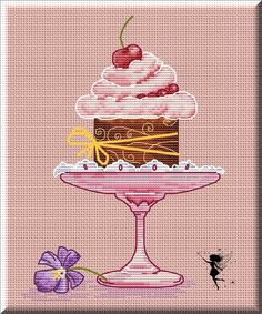 Нandmade/Вышивка крестиком/Бесплатные схемы | ВКонтакте Cupcake Cross Stitch, Kawaii Cross Stitch, Mini Cross Stitch, Simple Cross Stitch, Counted Cross Stitch Patterns, Cross Stitch Designs, Stitch Cake, Stitch Witchery, Cross Stitch Kitchen