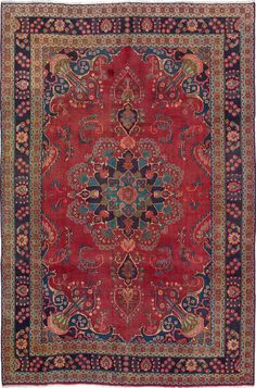 """Hand-knotted carpet 6'5"""" x 9'7"""" Persian Vintage Wool Rug...DISCOUNTED PRICE! #Unbranded #TraditionalPersianOriental"""