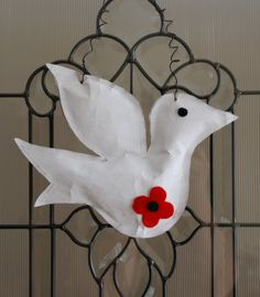 In keeping with the Remembrance Day theme here is a Peace Dove wall hanging that is very easy to do. I have had great success with t...