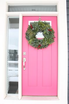 Lovely home tour with a Pink Front Door