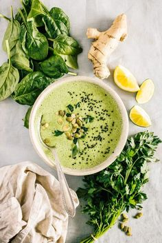 Detox Spinach Soup (Raw) changed recipe to spinach 1 avocado lemon juice garlic onion celery zucchini MCT coconut oil salt pepper cumin cayenne turmeric chia seeds Detox Recipes, Raw Food Recipes, Soup Recipes, Cooking Recipes, Healthy Recipes, Cooking Game, Freezer Recipes, Freezer Cooking, Drink Recipes