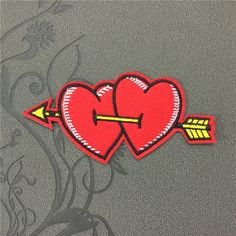 Vintage Valentine's Day Couple heart love Individuality Hat patches Embroidered Iron-On Patches sew on patches
