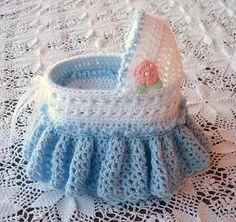 Baby Bassinet Crochet Pattern by AngelsCrochetToo on Etsy $6.99