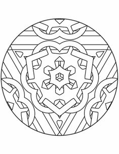 Kleuren.nu - mandala coloring chain