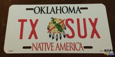 Customized license plate to show your team spirit or rib your rival. Tailgating Gear, Novelty License Plates, Spirit