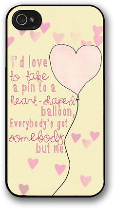 October Wish — Everybody's Got Somebody But Me iPhone Case